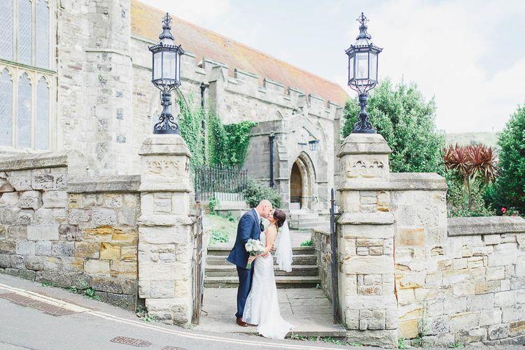 Bride & Groom outside the Church