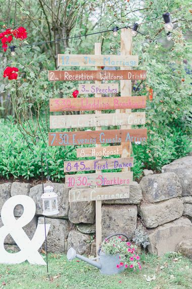 Rustic Wooden Order of The day Sign post