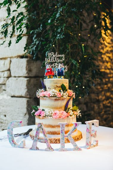 Naked Cake With Sylvanian Family Cake Toppers