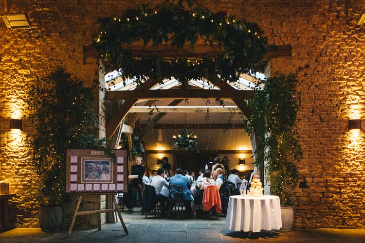 Autumnal Wedding At Cripps Barn Cotswolds With Bride In Watters And Bridesmaids In Aubergine Dresses With Images From Katy & Co.