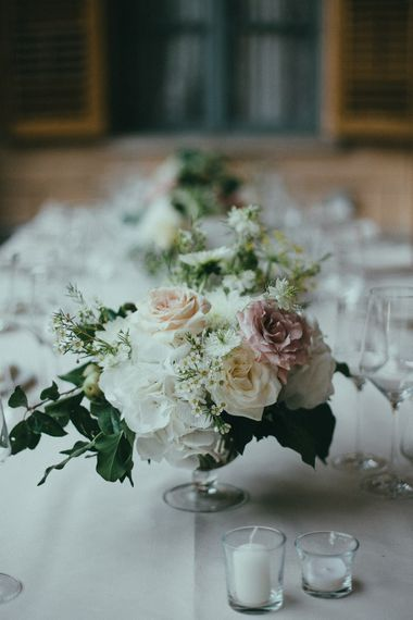 Elegant White Table Centrepiece