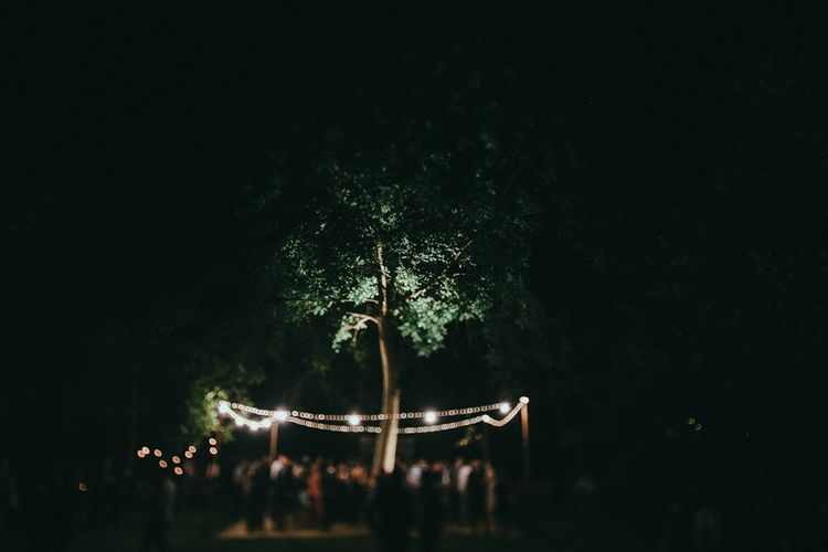 Festoon Lights Outdoor Reception
