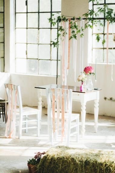 Altar Chairs with Ribbon   Pastel Wedding at Tommy Vitello, Italy   Planning & Styling by Agnese Sogna Sempre   Matrimoni all'Italiana Photography   Amu Wedding Videos