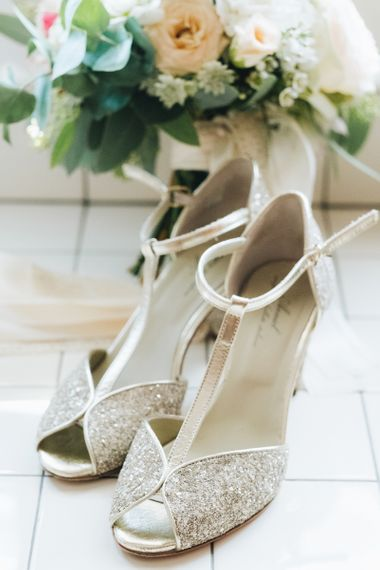 Silver T-Bar Wedding Shoes  Pastel Wedding at Tommy Vitello, Italy   Planning & Styling by Agnese Sogna Sempre   Matrimoni all'Italiana Photography   Amu Wedding Videos