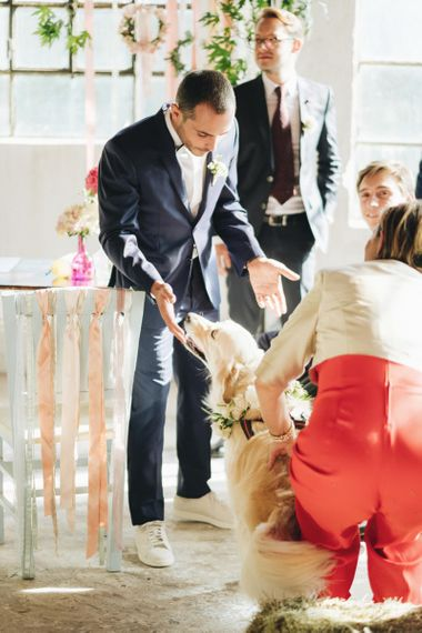Groom & Pet Dog   Pastel Wedding at Tommy Vitello, Italy   Planning & Styling by Agnese Sogna Sempre   Matrimoni all'Italiana Photography   Amu Wedding Videos