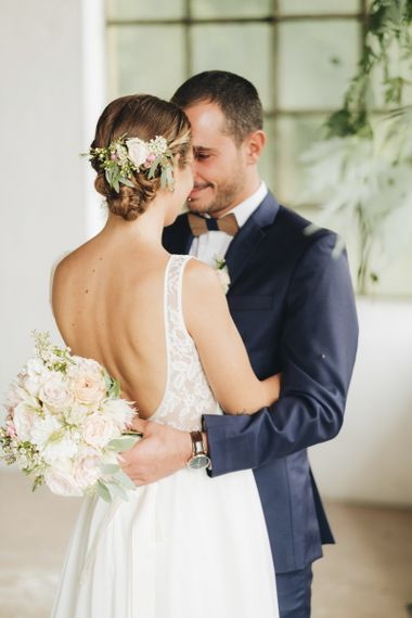 Bride in Nadia Manzato Gown   Groom in Suit & Bow Tie   Pastel Wedding at Tommy Vitello, Italy   Planning & Styling by Agnese Sogna Sempre   Matrimoni all'Italiana Photography   Amu Wedding Videos