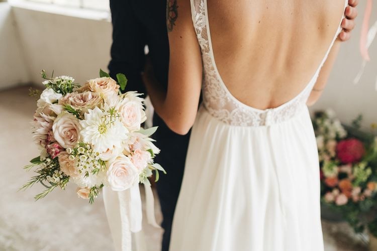 Delicate Pink & White Bridal Bouquet   Bride in Nadia Manzato Gown   Groom in Suit & Bow Tie   Pastel Wedding at Tommy Vitello, Italy   Planning & Styling by Agnese Sogna Sempre   Matrimoni all'Italiana Photography   Amu Wedding Videos