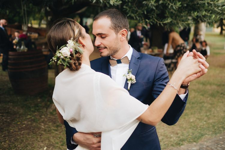 First Dance   Bride in Nadia Manzato Gown   Groom in Braces & Bow Tie   Pastel Wedding at Tommy Vitello, Italy   Planning & Styling by Agnese Sogna Sempre   Matrimoni all'Italiana Photography   Amu Wedding Videos