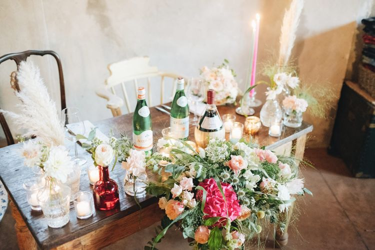 Sweet heart Table Wedding Flowers   Pastel Wedding at Tommy Vitello, Italy   Planning & Styling by Agnese Sogna Sempre   Matrimoni all'Italiana Photography   Amu Wedding Videos