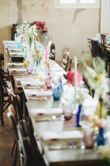 Coloured Vases with Flower Stems   Wedding Decor   Pastel Wedding at Tommy Vitello, Italy   Planning & Styling by Agnese Sogna Sempre   Matrimoni all'Italiana Photography   Amu Wedding Videos