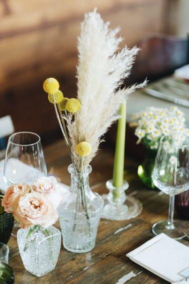 Flower Stems in Vases   Pastel Wedding at Tommy Vitello, Italy   Planning & Styling by Agnese Sogna Sempre   Matrimoni all'Italiana Photography   Amu Wedding Videos
