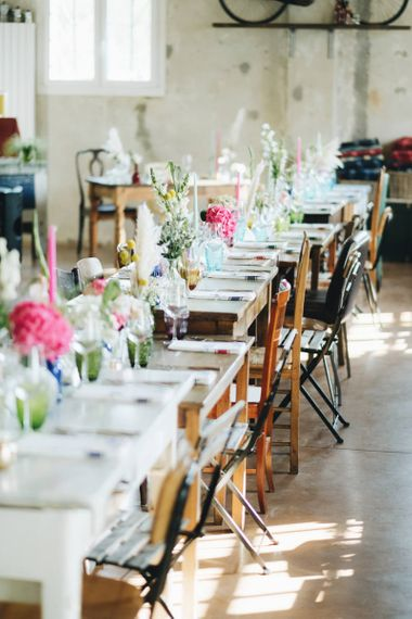 Tablescape with Flower Stems in Vases   Pastel Wedding at Tommy Vitello, Italy   Planning & Styling by Agnese Sogna Sempre   Matrimoni all'Italiana Photography   Amu Wedding Videos
