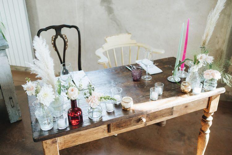 Flower Stems in Bottles & Vases   Pastel Wedding at Tommy Vitello, Italy   Planning & Styling by Agnese Sogna Sempre   Matrimoni all'Italiana Photography   Amu Wedding Videos