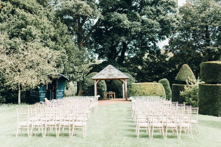 RMW The List's member Askham Hall | Outdoor ceremony | Photography by Jessica Reeve.
