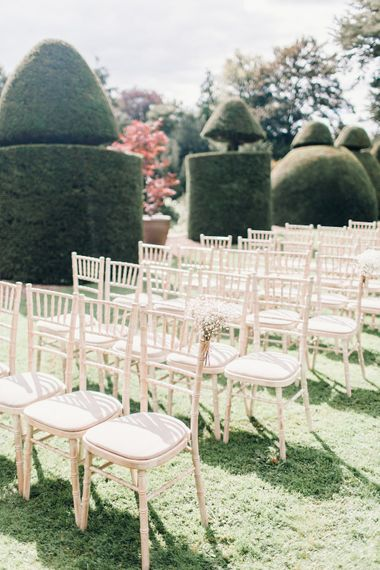 RMW The List's member Askham Hall | Outdoor ceremony | Green Wheat florals | Photography by Jessica Reeve.