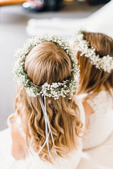 Green Wheat Floral crowns | Photography by Jessica Reeve.