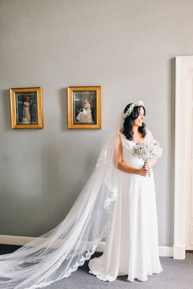 Beautiful Bride | Helping the Bride | Green Wheat Floral crowns | Photography by Jessica Reeve.