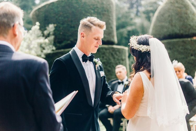 The Ceremony | Floral Crown by Green Wreath | Mrs Bowtie | Photography by Jessica Reeve.