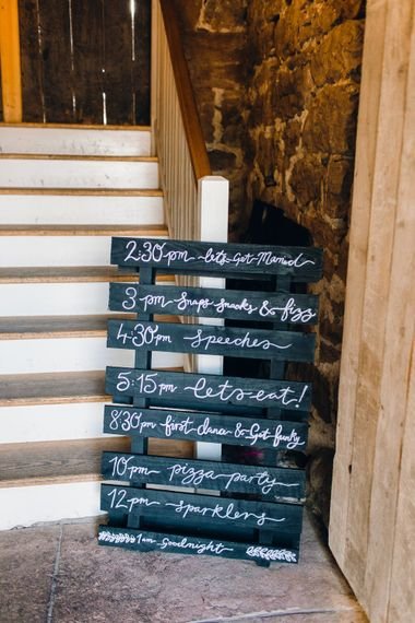 Signage for weddings | Askham Hall | Photography by Jessica Reeve.