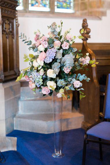 Church Pastel Floral Arrangement