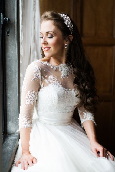 Bride in Lace Wedding Dress from Agape Bridal Boutique