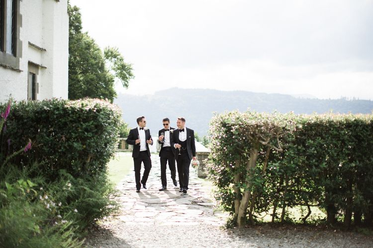 Groomsmen in Chester Barrie Black Tie Suits