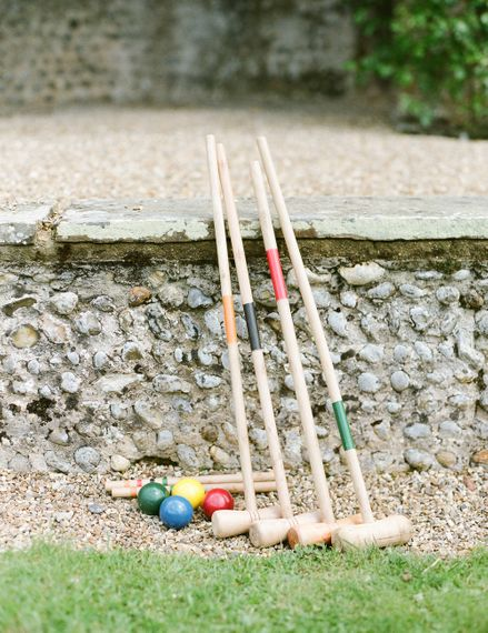 Croquet Lawn Games | Classic Green & White Outdoor Country Wedding at Voewood in Norfolk, Planned & Styled by Vanilla Rose Weddings & Events | Julie Michaelsen Photography