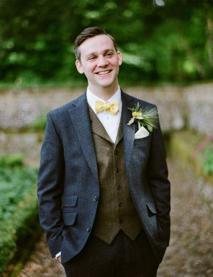 Groom in Walker Slater Suit | Classic Green & White Outdoor Country Wedding at Voewood in Norfolk, Planned & Styled by Vanilla Rose Weddings & Events | Julie Michaelsen Photography