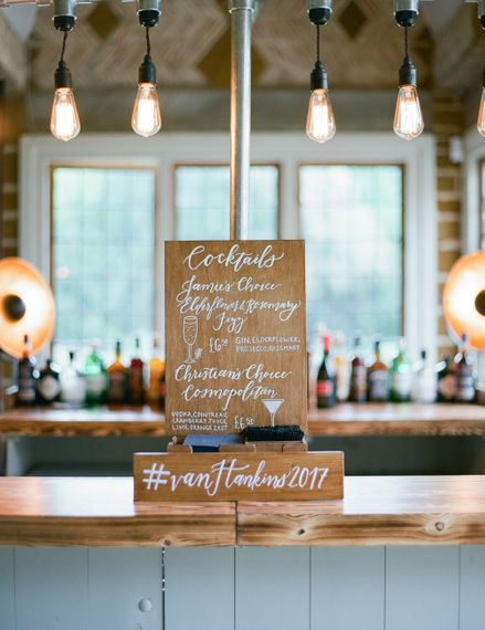 Wooden Wedding Signs | Classic Green & White Outdoor Country Wedding at Voewood in Norfolk, Planned & Styled by Vanilla Rose Weddings & Events | Julie Michaelsen Photography