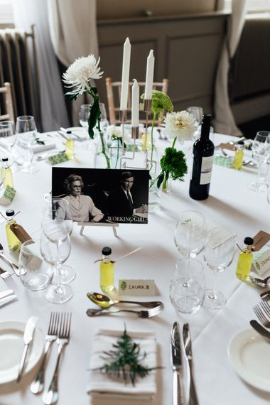 Iconic Couples Table Names | Stylish White, Greenery & Copper Wedding at Morden Hall in London | Beatrici Photography