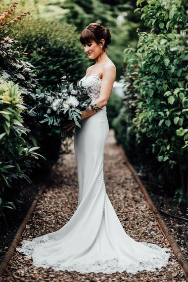 Bride in Illusion Back Martina Liana Bridal Gown | Beatrici Photography