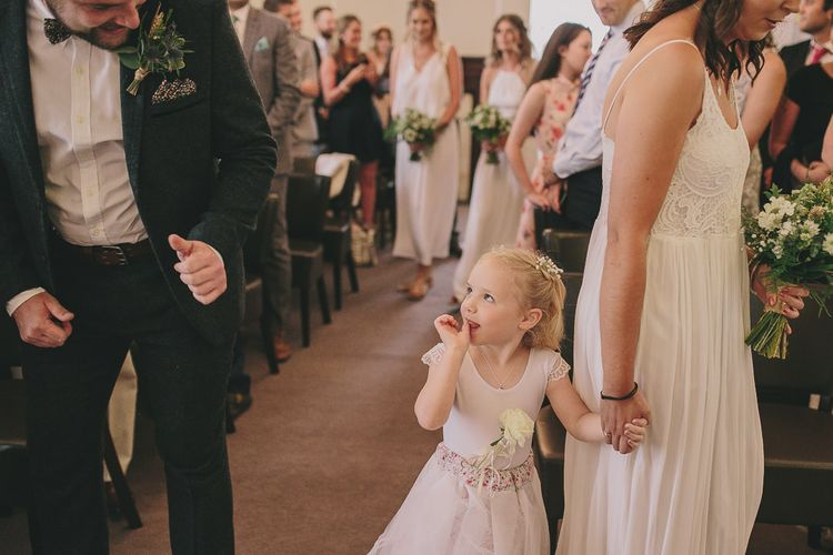 Flower Girl Wedding Ceremony | Steven Haddock Photography