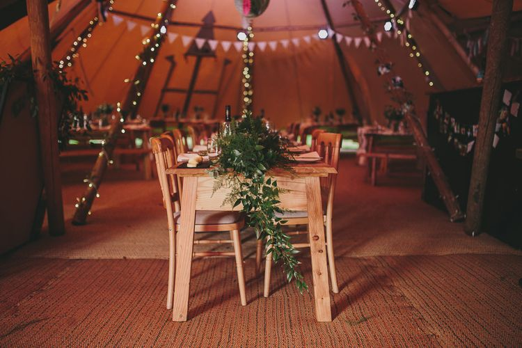 Table Scape | Rustic Tipi Wedding Reception | Steven Haddock Photography