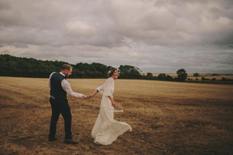 Bride & Groom | Elizabeth Dye Bridal Gown | Marc Darcy Suit | Steven Haddock Photography