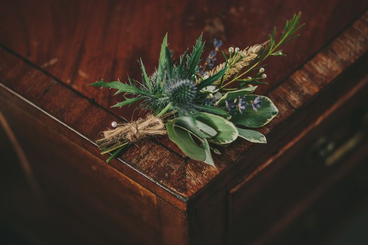 Greenery Buttonhole | Steven Haddock Photography