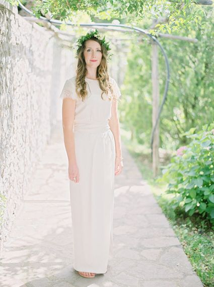 Bride in Sally Lacock Top & Coast Skirt | Bridal Separates