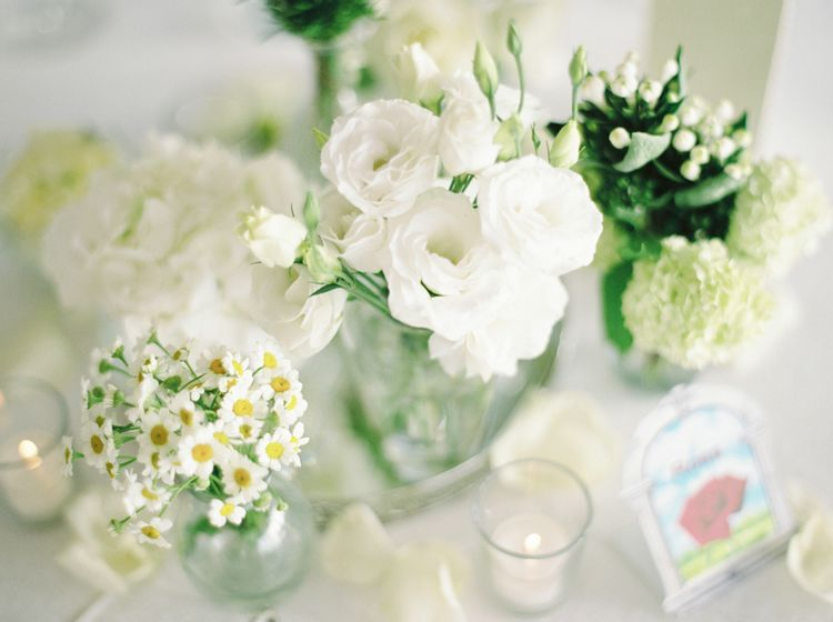 White Floral Centrepieces