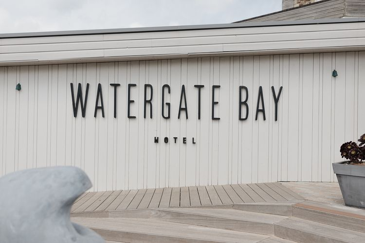 Intimate Coastal Wedding At Watergate Bay Hotel Cornwall With Bride In Blackburn Bridal & Images From Sebastien Boudot