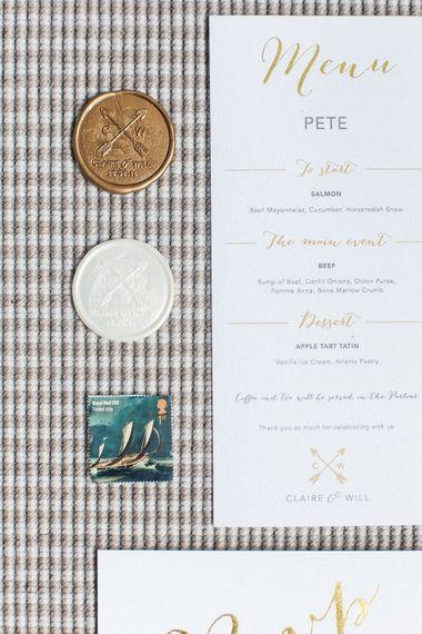 Gold Foil Wedding Stationery   Elegant Hampton Manor Wedding with Floral Decor   Xander & Thea Fine Art Wedding Photography