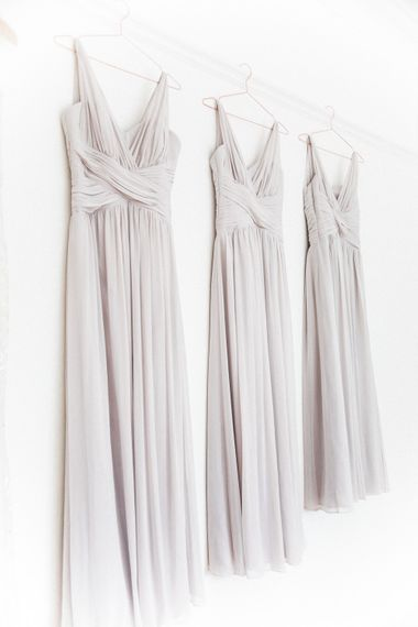 Grey Chiffon Dessy Bridesmaid Dresses   Elegant Hampton Manor Wedding with Floral Decor   Xander & Thea Fine Art Wedding Photography