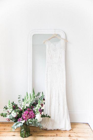 Jenny Packham Hermia Wedding Dress   Elegant Hampton Manor Wedding with Floral Decor   Xander & Thea Fine Art Wedding Photography