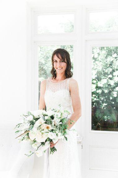 Bride in Hermia Jenny Packham Gown   Elegant Hampton Manor Wedding with Floral Decor   Xander & Thea Fine Art Wedding Photography