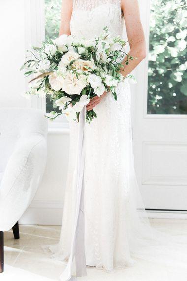 Romantic Wedding Bouquet   Bride in Hermia Jenny Packham Gown   Elegant Hampton Manor Wedding with Floral Decor   Xander & Thea Fine Art Wedding Photography