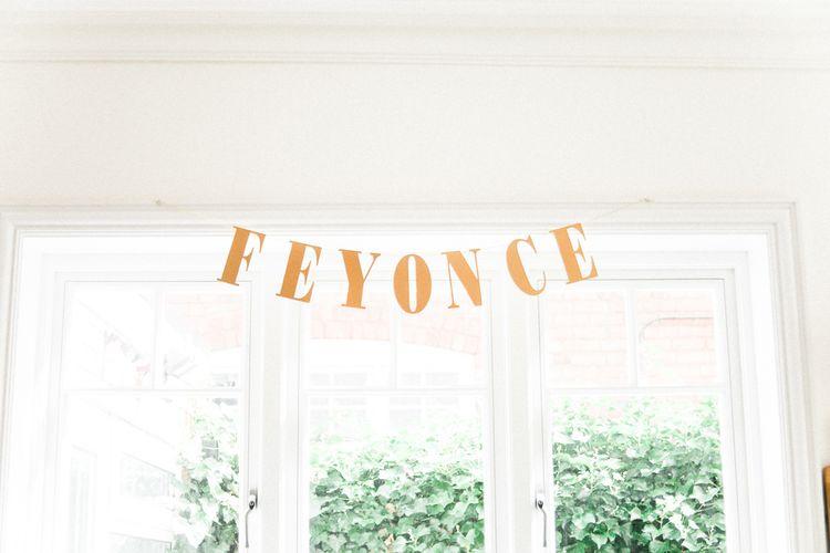 Gold Wedding Bunting   Bride in Hermia Jenny Packham Gown   Elegant Hampton Manor Wedding with Floral Decor   Xander & Thea Fine Art Wedding Photography