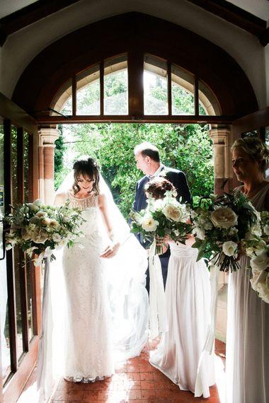 Church Wedding Ceremony   Bride in Hermia Jenny Packham Gown   Elegant Hampton Manor Wedding with Floral Decor   Xander & Thea Fine Art Wedding Photography