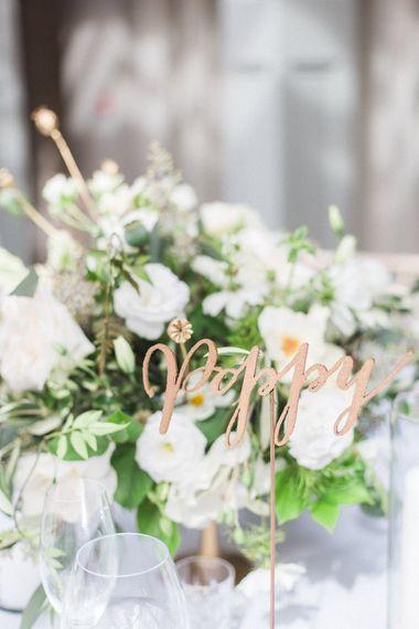 Floral Centrepiece   Church Wedding Ceremony   Bride in Hermia Jenny Packham Gown   Elegant Hampton Manor Wedding with Floral Decor   Xander & Thea Fine Art Wedding Photography