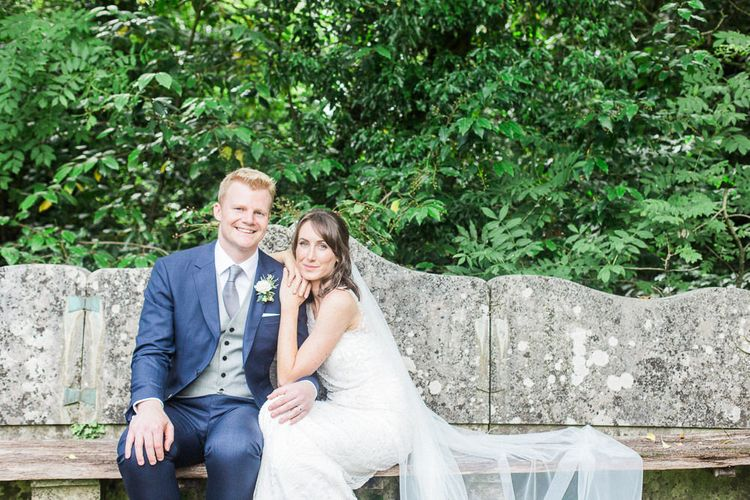 Bride in Jenny Packham   Groom in Navy Reiss Suit   Elegant Hampton Manor Wedding with Floral Decor   Xander & Thea Fine Art Wedding Photography