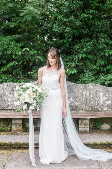 Bride in Jenny Packham   Elegant Hampton Manor Wedding with Floral Decor   Xander & Thea Fine Art Wedding Photography