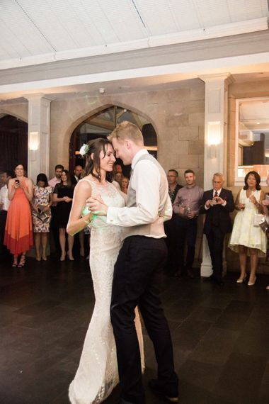 Choreographed First Dance   Bride in Jenny Packham   Groom in Navy Reiss Suit   Elegant Hampton Manor Wedding with Floral Decor   Xander & Thea Fine Art Wedding Photography