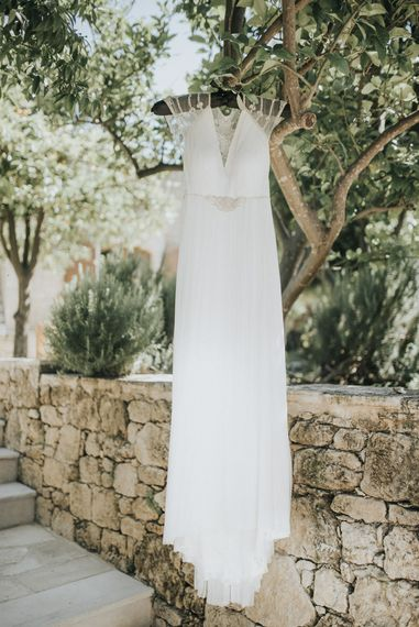 Catherine Deane Wedding Dress | Outdoor Pastel Destination Wedding at Agreco in Greece | Best Moments Wedding Planner | Paulina Weddings Photography